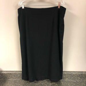 Eileen Fisher woman black  Italian fabric skirt 2x
